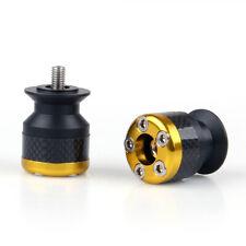 CNC Carbon Fiber 8mm Swingarm Slider Spools For Ducati 1098 1198 Monster Gold B3
