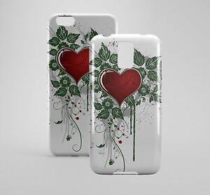 Blood Red Heart Printed Phone Case Cover for Samsung S5 Note 5 iPhone 6 6plus