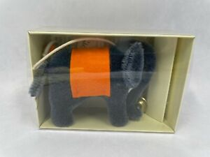 Steiff Blue Elephant 2007 With Box and Certificate 4 Inches Long