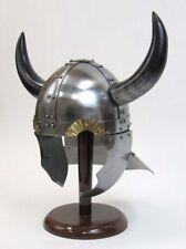 Armor Helmet ~ Viking w/ Horns & Guards ~ Medieval  Knight Crusader ~ Armer