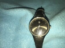 Ladies Stainless Steel RIPCURL MONTANA Watch With Black leather Band NICE!!