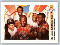 1991 Skybox #337 Michael Jordan Bulls Starting Team Great Moments NBA Finals HOF