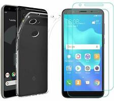 Google Pixel 3a Case With Screen Protector Tempered Glass Transparent Cover corm