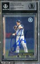 2005 Topps Chrome #3 Alex Rodriguez Seattle Mariners Signed AUTO BGS BAS