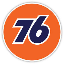 "76 Gas Station racing sticker decal 4"" x 4"""