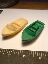 1950's F & F Mold Century Coronado Toy Boat Plastic Post Cereal Premium Lot Of 2