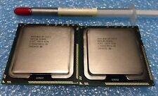 Matched Pair(2) of Intel Xeon X5570 2.93GHz,8MB, LGA 1366 QUAD CORE CPU's, SLBF3