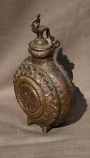 POT EN BRONZE INDE A HERBES ENCENS INDIAN POT