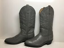 MENS UNBRANDED COWBOY GRAY BOOTS SIZE 9.5 D