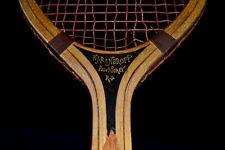 Antique Vintage Wood 1915 Bancroft The Winner Tennis Racket Unusual Decal