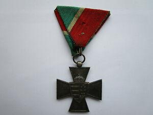 Ungarn silbernes Verdienstkreuz 1940 am Dreiecksband