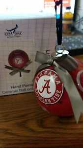 Alabama Crimson Tide Ceramic logo Christmas Ornament CB0001 OFFICIALLY LICENSED