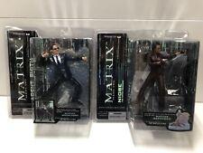 New ListingMcFarlane Toys The Matrix Series 2 Agent Smith & Niobe Action Figures Nib