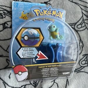 Pokemon TOMY Throw 'N' Pop Poké Ball, Squirtle and Figure Toy Brand New Gift