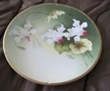 """Reinhold Schlegelmilch R.S. Tillowitz Germany Artist Signed 9"""" Orchid Plate"""