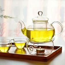 Clear Glass Teapot Holder Heat-Resistant Warmer Insulation Base Candle Holder