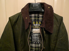 BARBOUR-  A100 BEDALE WAXED COTTON JACKET - SAGE- MADE IN ENGLAND- SIZE 46