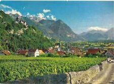 old postcard Vaduz Principality of Liechtenstein