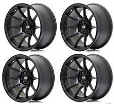 """Xxr 527 15"""" x 8.25J ET0 4x100 4X114.3 plat noir concave alloy wheels set Z2277"""