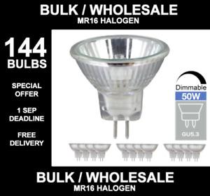 144x MR16 GU5.3 M262  40W 50W MAINS 12V HALOGEN LAMP LIGHT BULB 144 BULBS