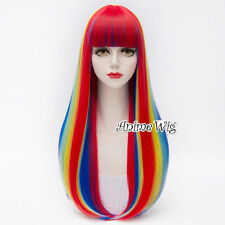 Multi-Color Long 75CM Wavy Lolita Anime Cosplay Party Heat Resistant Full Wig