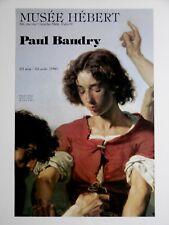 Paul BAUDRY Affiche originale Musée Hébert Paris ZÉNOBIE TROUVÉE PAR LES BERGERS