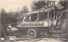 CARTE POSTALE SUSSEX HANDCROSS Vanguard Moteur Accident 1906