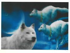 wolf legend painting 3D Lenticular Holographic Stereoscopic Picture Wall Art