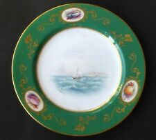 Royal Worcester Rare Rushton Antique Plate Hand Painted Sailboat Signed