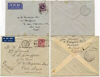 GB to EGYPT SHIP GLENAFFARIC 1936 AIRMAIL...2nd JAN 3d + 3rd JAN 6d...2 ITEMS
