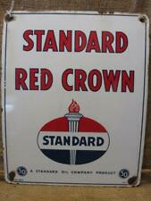 Vintage 1934 Porcelain Standard Oil Red Crown Sign > Antique Gas Automobile 9343