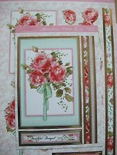 HUNKYDORY FABULOUS FLORALS DECO LARGE CARD KiT TOPPERS(Rose Bouquet)