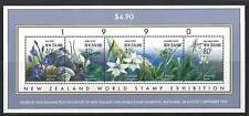 NEW ZEALAND 1990 WORLD STAMP EXHIBITION MINIATURE SHEET UNMOUNTED MINT, MNH