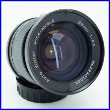 VIVITAR 28mm f2.5 MINOLTA MD MOUNT vintage lens obiettivo fisso 2.8 prime wide