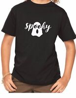 Youth Toddler Spooky T-Shirt Ghost Easy Halloween Costume Shirt Kids Boy Girl
