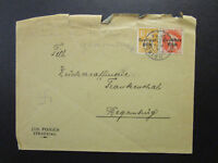 Germany 1924 Cover w/ Small Top Tears - Z6849