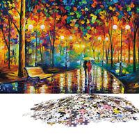 1000 Pcs Adult Puzzle Difficult Noctilucent Growups Puzzle Rainy Night Stroll US