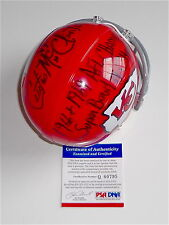 "CURTIS MCCLINTON SIGNED ""66+69 AFL SUPER BOWL IV CHAMPS"" CHIEFS MINI HELMET PSA"