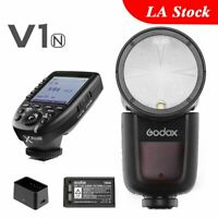 Godox V1-N Round Head Camera Flash TTL 2.4G HSS Xpro-N Transmitter For Nikon