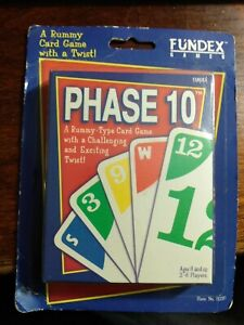 Phase 10 Card Game Fundex 1998 NOS