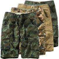 Summer Mens Casual Shorts Camouflage Loose Multi-Pocket Trousers Short Pants HJ