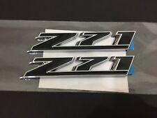 NEW Z71 EMBLEM BADGE CHROME BLACK - 2 PCS