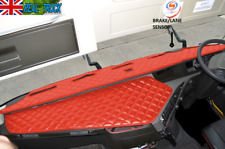 TRUCK ECO LEATHER DASH MAT WITH SPACE FOR SENSOR  FIT  VOLVO  FH 4 2013+  [RED ]