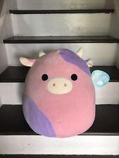 Kellytoy Squishmallow Patty The Cow 16 inch Stuffed Animal Soft Plush HTF NWT 🔥
