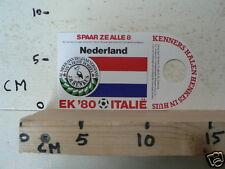 STICKER,DECAL EK 80 ITALIE VOETBAL,SOCCER JH HENKES,NEDERLAND,NETHERLANDS A