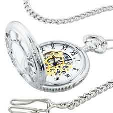 Mechanical Pocket Watch Railroad Jesse Kansas City Vintage Chain Wind As Seen TV
