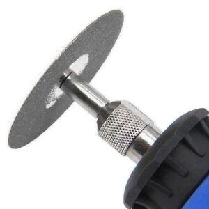 6Pc DIAMOND COATED CUTTING DISCS 20/22mm Small Mini Cut Wheels + Drill Bit Shank