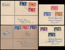 BRITISH COLONNIES-1937-LOT OF 8  DIFFERENT CIRCULATED LETTER !!