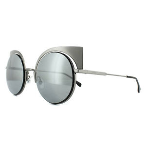 Fendi Sunglasses Eyeshine FF 0177/S KJ1 T4 Dark Ruthenium Silver Mirror