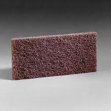 "3M Doodlebug Brown Scrub Strip Pad 8541, 4-5/8"" x 10"" Ref 8541 - 5 Pads / Box"